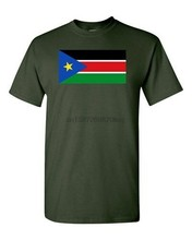 South Sudan Country Flag Africa Juba State Nation Patriotic Dt Adult T-Shirt Tee New Unisex Funny Tops Tee Shirt(China)