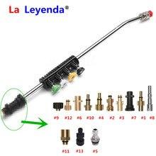 LaLeyenda nettoyeur deau à pression Lance en mousse pour LAVOR/Karcher/Bosche/Nilfisk Parkside Tornado pistolet buses de pulvérisation étendre le Jet 5 embouts