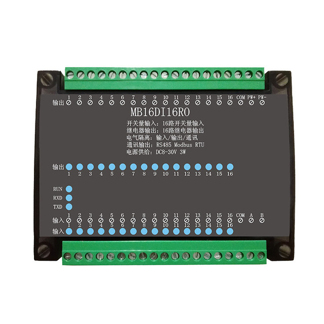 16DI/16RO 16 Road Digital Isolation Input Module 16 Channel Relay Output Data Acquisition Control Board RS485 Modbus Module