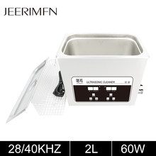 2L Digital Ultrasonic Cleaner Bath 60W Tank PCB Board Metal Parts Ultrason Washer Mold Degreasing Jewelry Sonic Cleaning Machine
