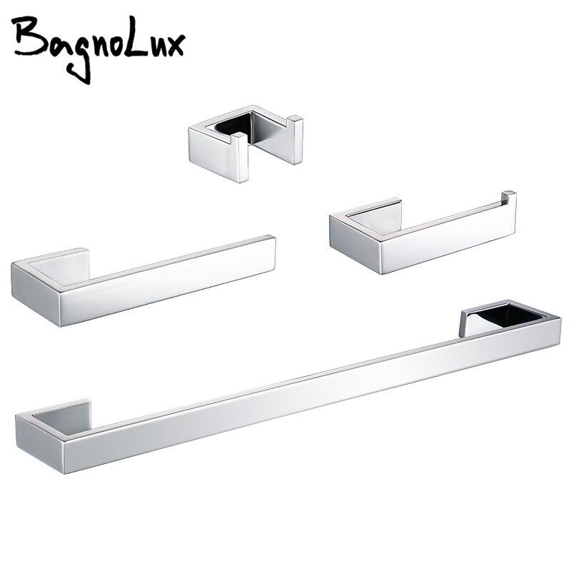 Toilet Paper Holder Towel Hooks Bathroom Accessories Kit Bar Stainless Steel Bedroom Metal Mounting Kitchen Bath Hardware Sets