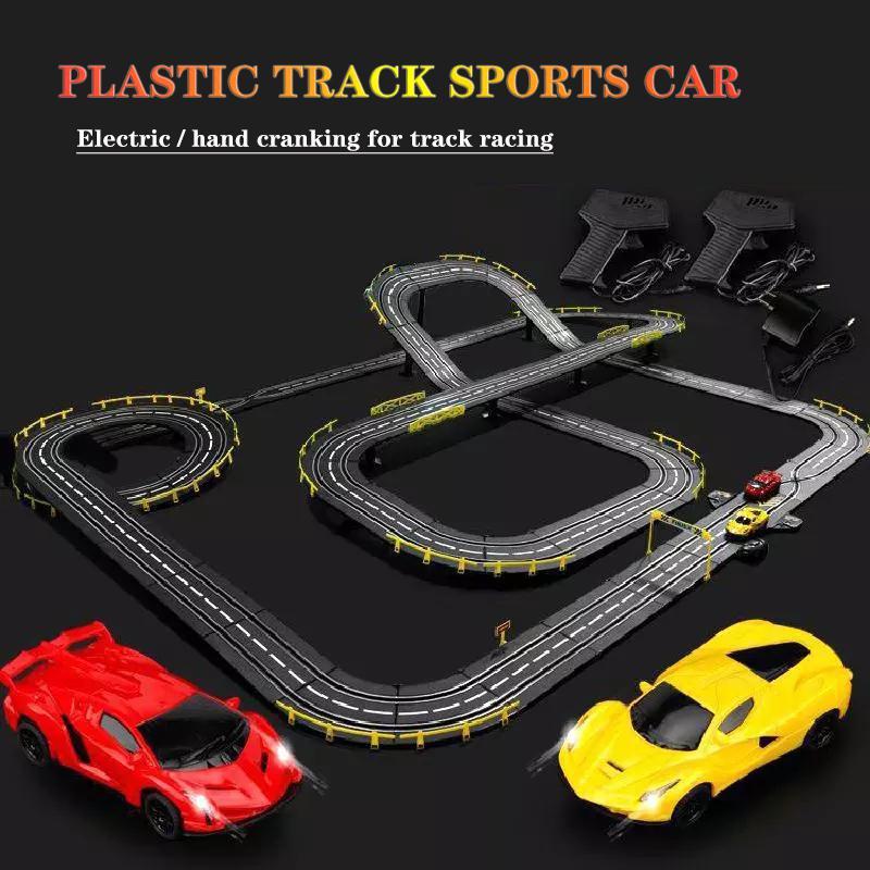 Пластиковый рельсовый автомобиль 2 шт. для электрического и ручного запуска трека гоночный игрушечный рельсовый автомобиль аксессуары дет...