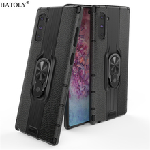 цена на For Samsung Galaxy Note 10 Case For Samsung Note 10 Protective Case Finger Ring Armor PC Hard Back Phone Case For Galaxy Note 10