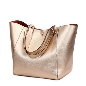 Image 1 - Women Leather Handbags Big Women Bag 2PCS/Set High Quality Female Bags Trunk Tote Ladies Large Shoulder Bag