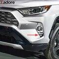 Для Toyota RAV4 RAV 4 Adventure/Limited LE XLE Hybrid 2019 2020 ABS Хромированная Автомобильная передняя противотуманная фара Противотуманные фары крышка Накладка