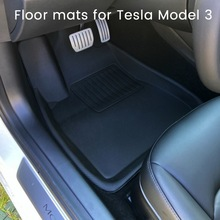 Foot-Pad Floor-Mat Modified-Accessories Tesla-Model Non-Slip Waterproof Special for TPE