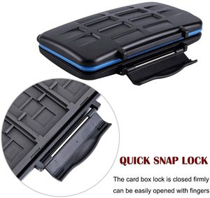 Image 5 - JJC Memory Card Case Holder Storage Box Organizer for SD SDHC SDXC MSD CF Cards for Canon Nikon Sony Fuji DSLR Mirrorless Camera