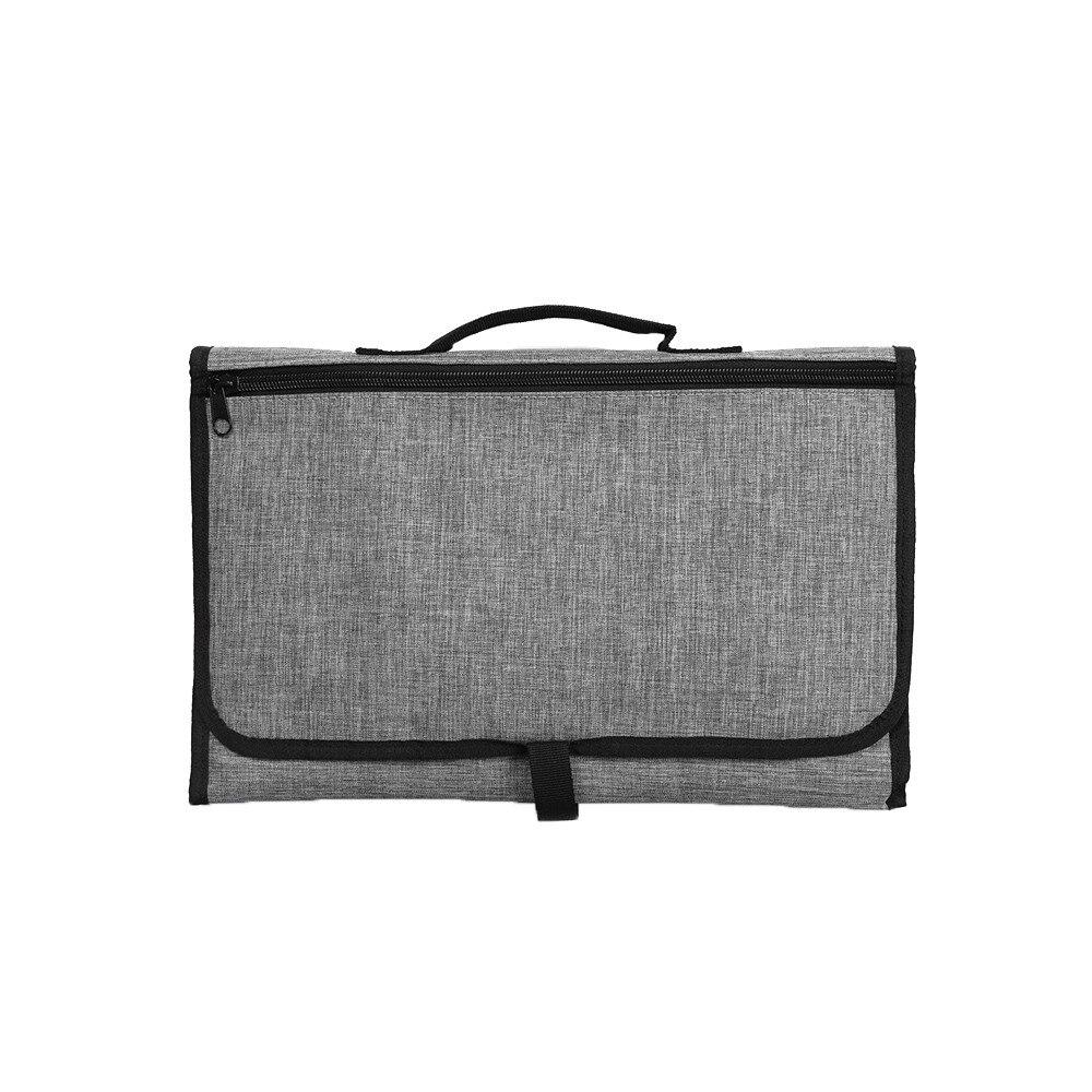 Новые 3 в 1 Водонепроницаемый пеленальный коврик пеленки мнчества, Портативный чехол для детских подгузников коврик чистой ручной складной сумка из узорчатой ткани - Цвет: CPD025