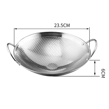 Stainless steel dry pot dry pot round bottom small pot commercial thickened double ear non-stick pot bar tripod hot pot hotpot Cooking Utensils Cookware Home & Garden Home Garden & Appliance Kitchen, Dining & Bar Non Stick Cookware Non Stick Cookware Non Stick Frying Pan Color: 9 Inches