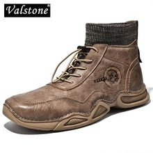Male Shoes Men Boots High-Top Vintage Casual Spring Valstone Handmade Plus-Size Fashion-Quality