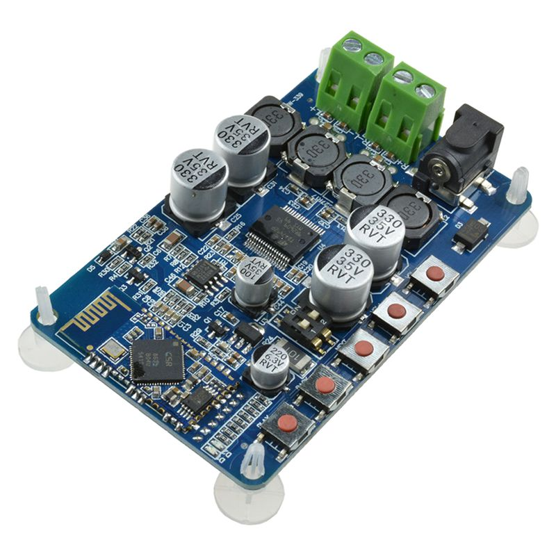 TDA7492P 50W+50W CSR8635 <font><b>Bluetooth</b></font> 4.0 Audio Receiver Digital Amplifier Board Blue image