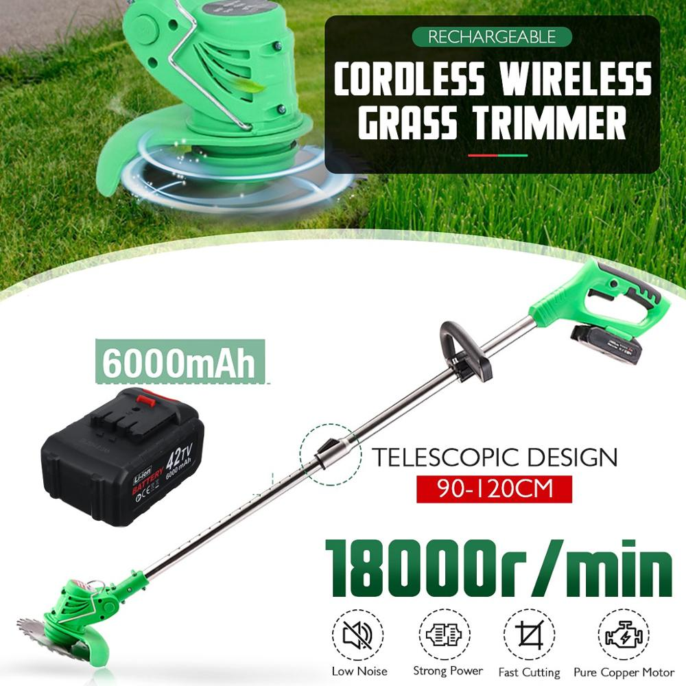Cutter Ion Grass Lawn Household Mower 6000mah Mower Trimmer With Garden 1xBattery Tools Cordless Kits Li Rechargeable Electric