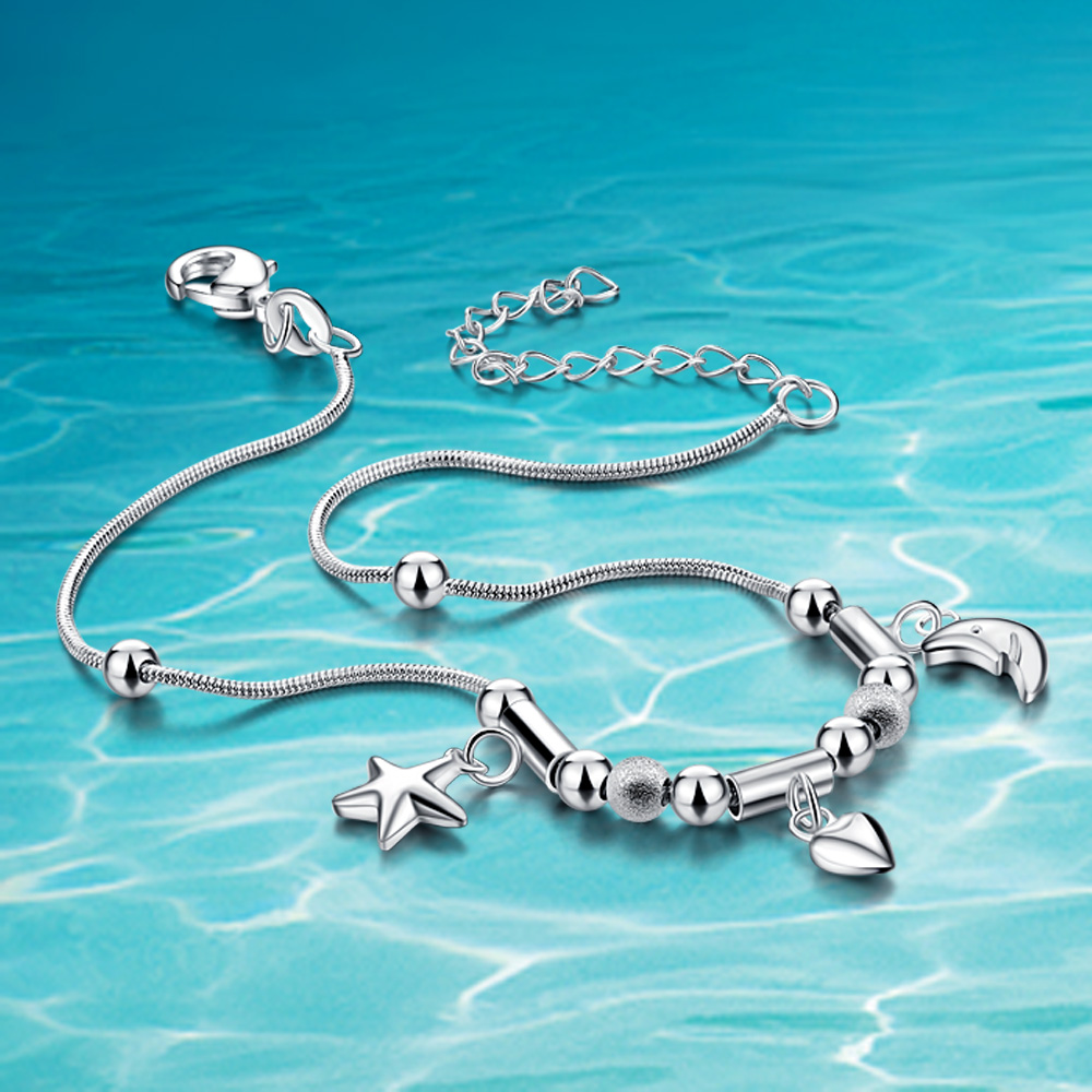 Hot sale!!! 925 women sterling silver anklets;925 Sterling silver; 925 genuine solid pure silver jewelry;
