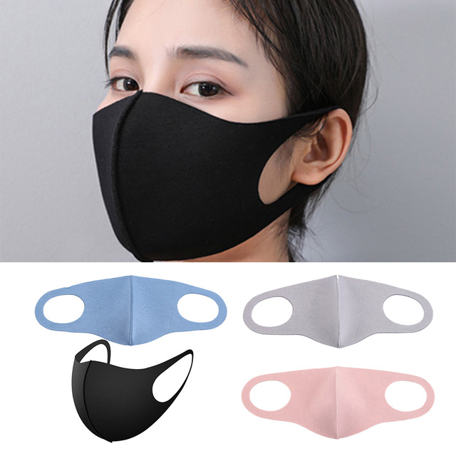 4 Pieces Anti Flu Pollution Mouth Mask Reusable Dust Proof Face Mask 2
