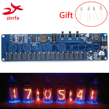 zirrfa 5V Electronic DIY kit in14 Nixie Tube digital LED clock gift circuit board kit PCBA, No tubes ds3231 electronic diy 0 8inch dot matrix led clock kit 4 digit display 5v mciro usb car clock l15