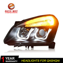 Car Styling Head Lamp case for Nissan Qashqai 2008-12 Headlights LED Headlight DRL Lens Double Beam Bi-Xenon HID car Accessories cdx car styling for nissan teana led headlight 2012 altima headlight drl lens double beam h7 hid xenon bi xenon lens
