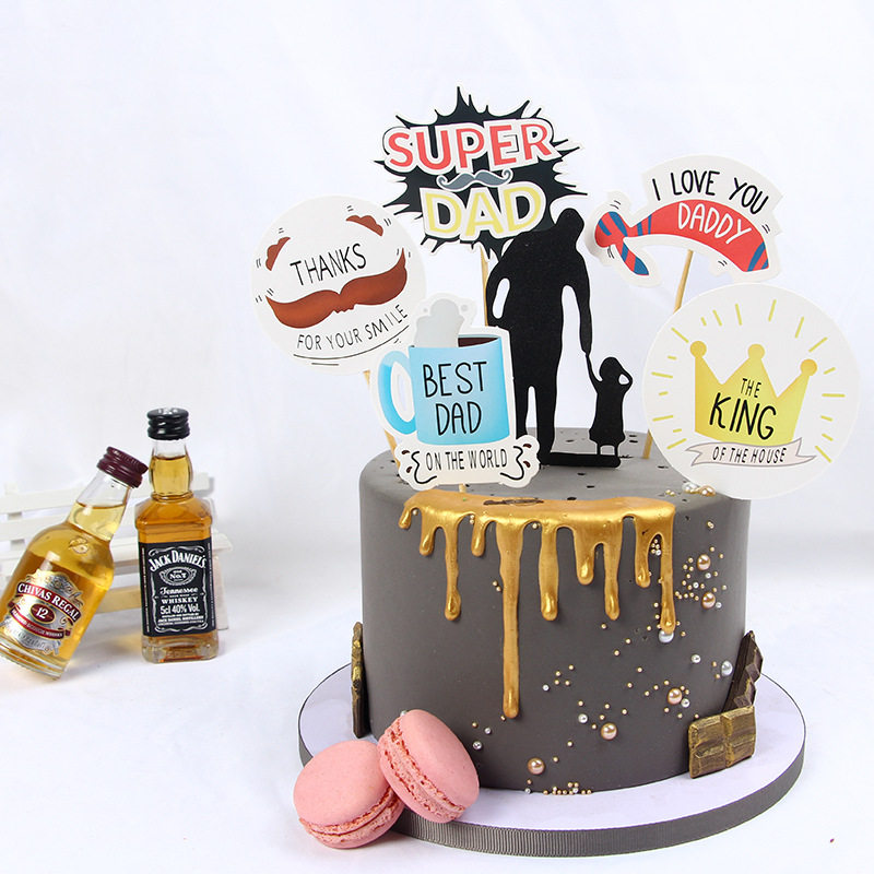 Stupendous Happy Fathers Day Cake Decoration Best Dad Hero Father Theme Personalised Birthday Cards Paralily Jamesorg