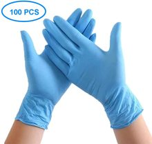 professional Isolation gloves Nitrile Disposable Gloves 100pcs Powder-Free Food Work Cleaning Exam Gloves