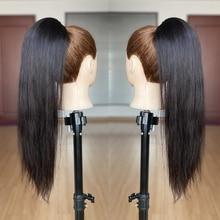 Aliballad прямые человеческие волосы на шнурке для конского хвоста бразильский конский хвост Реми заколка для волос для конского хвоста для жен...