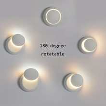 Modern LED Rotatable Moon Wall Lights Lighting Retro Industrial Wind Indoor Loft Corridor Deco Lamp Bedroom Bedside Luminaire
