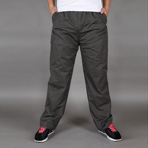 Image 3 - Зимние Бархатные утепленные штаны, хлопковые свободные прямые штаны большого размера со множеством карманов для инструментов