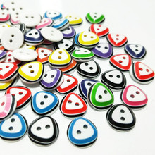 HL 100pcs NEW mix color 2 holes flatback resin buttons kid's apparel sewing accessories DIY crafts and scrapbooking 12MM цена