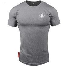 2021 nowa markowa odzież fitness Running t shirt mężczyźni O-neck t-shirt bawełna kulturystyka koszulki sportowe topy gym men t shirt
