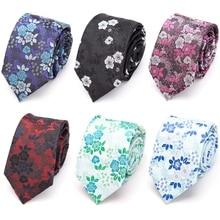 Галстук для мужчин модный тонкий галстук цветочный бант модный жаккард из полиэстера джентльмен Свадебная вечеринка аксессуары галстук Gravata