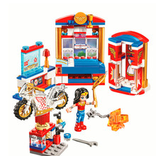 BELA 10616 Heros Wonder Woman Dorm Girl Building Blocks Brick Compatible 41235 Technic Playmobil Toys For Children(China)