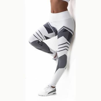 Women Quick Dry Sport Fitness Leggins Geometric Printed Sports Pants Yoga Pants Leggings Slim Tights Trousers For Women S-XXXL 10