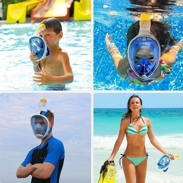 New Underwater Scuba Anti Fog Full Face Diving Mask Snorkeling Set Respiratory masks Safe and waterproof Swimming Equipment