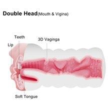 Realistic Vagina Oral Sex Male Masturbator Sex Toys for Men Soft Tight Pussy Erotic Adult Toys For Men Masturbatings Machine