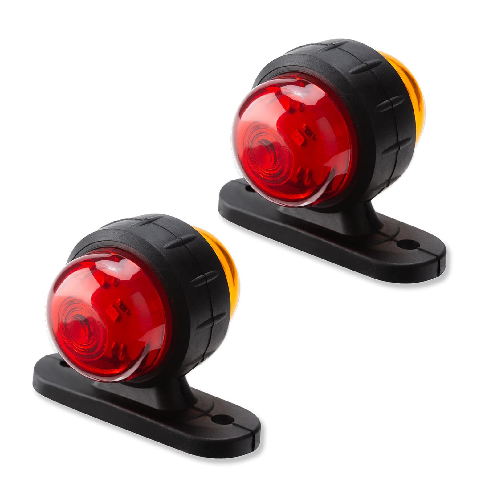 Car Truck Trailer Marker Lights Car Light LED .LED Side Sign Lights 2led Palstic Auto Waterproof 12V/24V Universal Super Bright