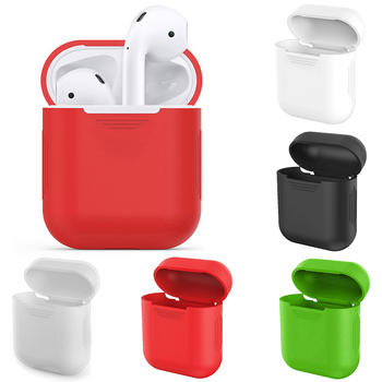 Mini Soft Silicone Case For Apple Airpods Shockproof Protector Cover Box Anti-Lost For IPhone Wireless Bluetooth Earphone image