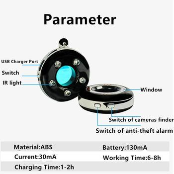 Portable Laser Hidden Camera Finder Anti Spy Camera Detector Anti-Theft Vibration Alarm for Personal Safe K100 4