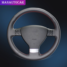 Car Braid On The Steering Wheel Cover for Volkswagen Golf 5 Mk5 VW Passat B6 Jetta 5 Mk5 Tiguan 2007-2011 Auto Leather Cover