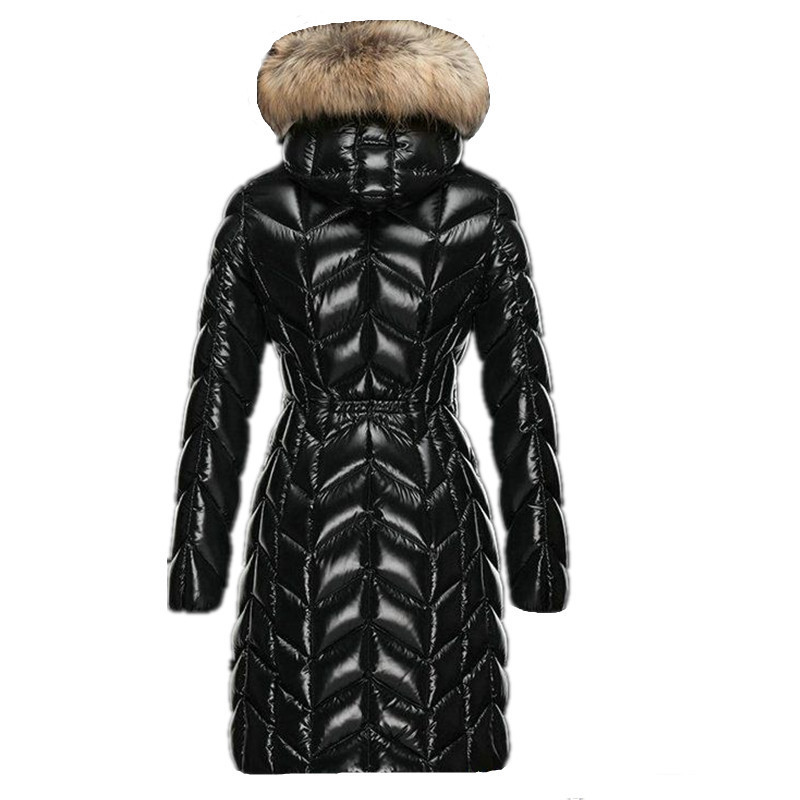 Women Winter 90% White Duck Down Jackets 2020 European Long Hood Coats Female Thickening Parka Large Raccoon Fur Coat LX2315