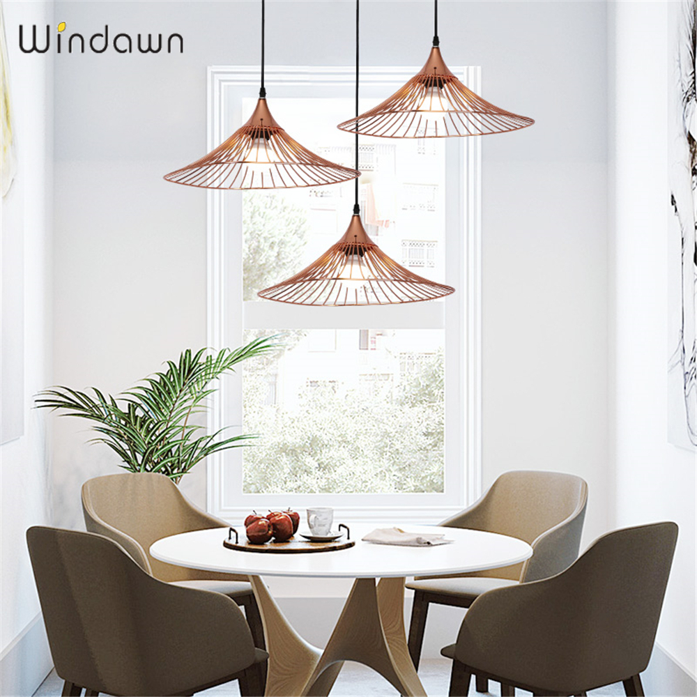 Windawn Nordic Pendant Lights Iron Ceiling Lamp Bedside Lamp Modern Hotel Bedroom Living Room Office For Ceiling Lamp