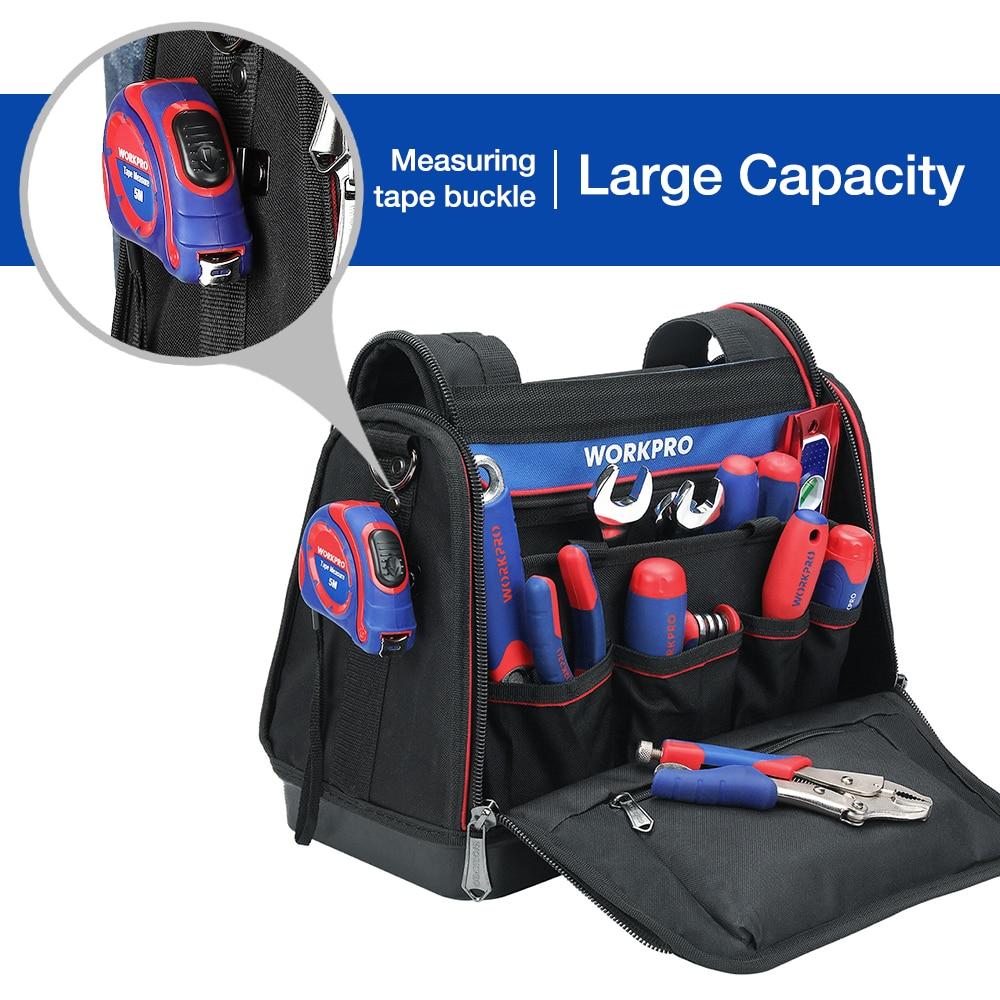 Hot DealsWORKPRO Bag Handbag Storage-Bag-Tool-Kits 16--Tool-Bag Shoulder-Bag Foldable Polyester