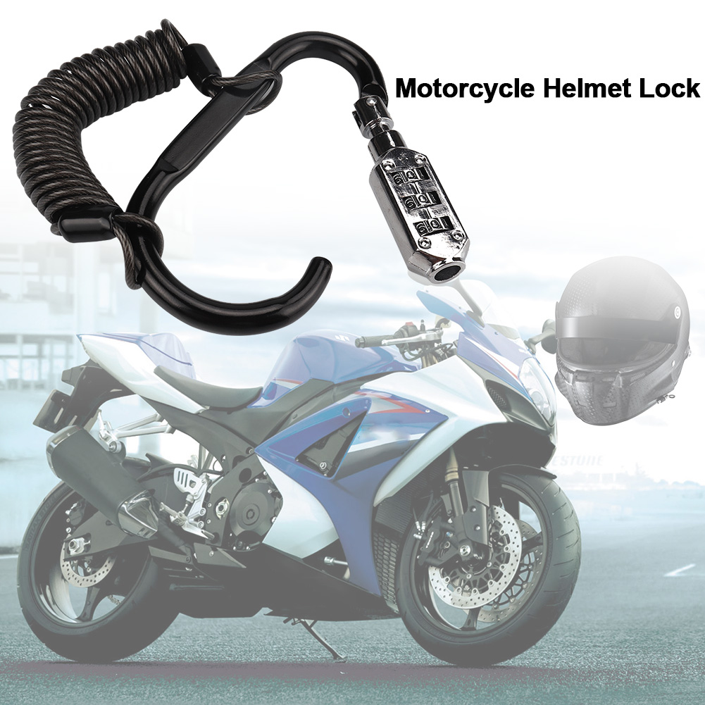 Motorcycle Helmet Lock Cable Anti-theft Rope Mountain Bike Disc Brake Lock Password Lock Elastic Rope Heavy Dut Lock Cable