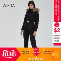 Wixra Women Winter One Piece Ski Jumpsuit Breathable Snowboard Skiing Pant Sets Bodysuits Thick Warm Snow Suits Streetwear