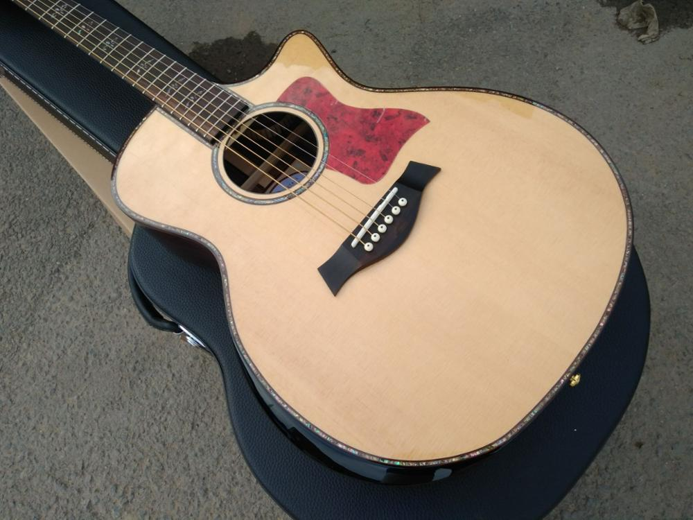 free shipping Factory shop Chaylor 914ce acoustic guitar solid top 914c acoustic electric guitar with armrest guitar