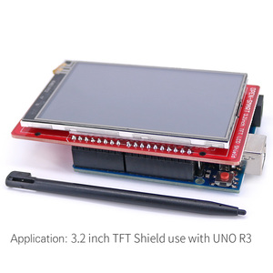 Image 5 - 3.2 inch TFT LCD Display module Touch Screen Shield Kit onboard temperature sensor + Touch Pen / TF card /Mega2560 for Arduino