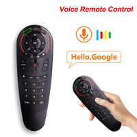 G30 2.4G Gyroscope Wireless Air Mouse 33 Keys IR Learning Smart Voice Remote Control for X96 H96 MAX Android Smart TV box