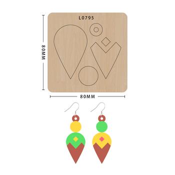 SMVAUON notatnik Die Cut Cartoon Collage kolczyk handmade nowe matryce do 2020 drewniany szablon do wycinania formy do wykrawania drewna Die tanie i dobre opinie Nieregularne Rysunek Leather Tools