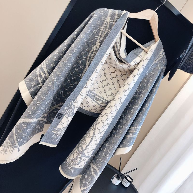 Summer office air conditioning shawl imitation cashmere winter versatile warm cloak