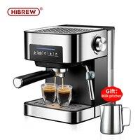 HiBREW espresso coffee machine inox semi automatic expresso maker,cafe powder espresso maker, cappuccino