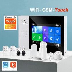 Tuya Alarm WiFi GSM Alarm GPRS Wireless Home Sicherheit Alarm Alexa mit IP Kamera Überwachung Touchscreen RFID SOS Google alexa