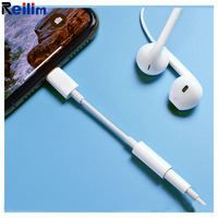 Reilim auriculares adapter 3.5 headphone jack adapter for lightning to 3.5mm Cable Connector support ios 12 for iphone 7 8/ipad