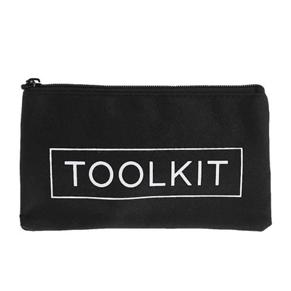 Durable Electrician Hardware Repair Kit Storage Tool Bag Waterproof Canvas Cloth Screwdriver Plier Wrench Holder Case Handbag